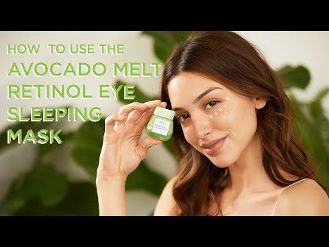 How To Use Avocado Melt Retinol Eye Sleeping Mask   Glow Recipe