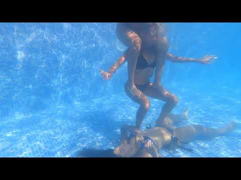 Underwater fun with my girls bh swimming pool