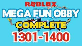 ROBLOX - MEGA FUN OBBY COMPLETED - Fase 1301-1400 (Workthrough)
