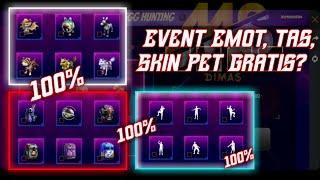 Cara Mendapatkan Event Gratis , Tas , Emot + Skin Pet Secara Gratis ?