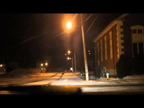 Driving by reflectors at night