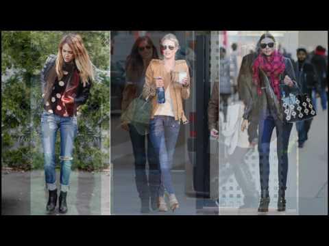 d4758b8da9 Moda tendencias Como combinar jeans con botines - YouTube