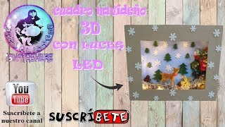 8 ADORNOS NAVIDEÑOS CON MATERIAL RECICLADO - CUADRO NAVIDEÑO 3D CON LUCES  LED