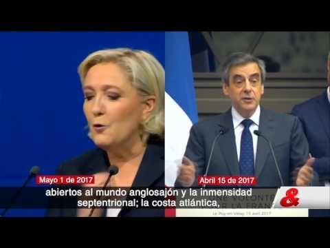 Marine Le Pen admite haber plagiado discurso de François Fillon