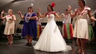 Tongan wedding dance by Wellington bridal party