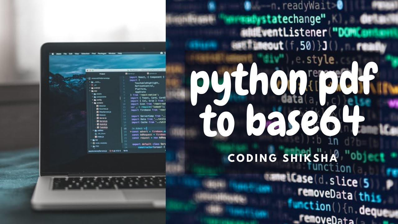 Python 3 Script to Encode a PDF File to Base64 String Using base64 Library Full Tutorial For Noobs