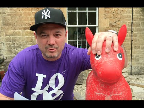 Huey Morgan and red rubber donkey do Cornish rap