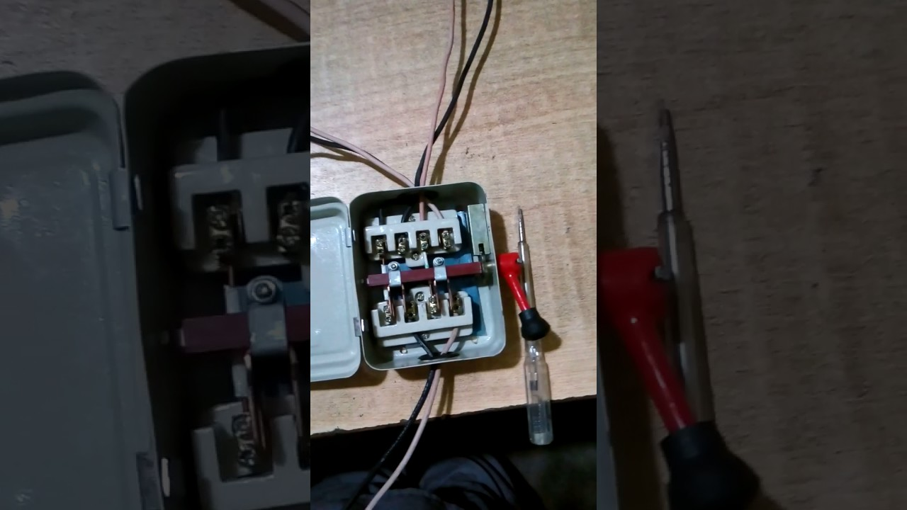 Changeover switch wiring  YouTube