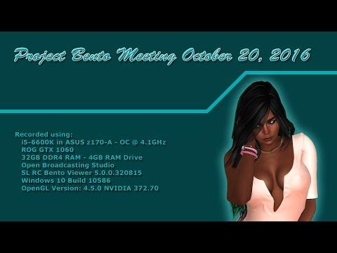 Project Bento Meeting Oct 20, 2016