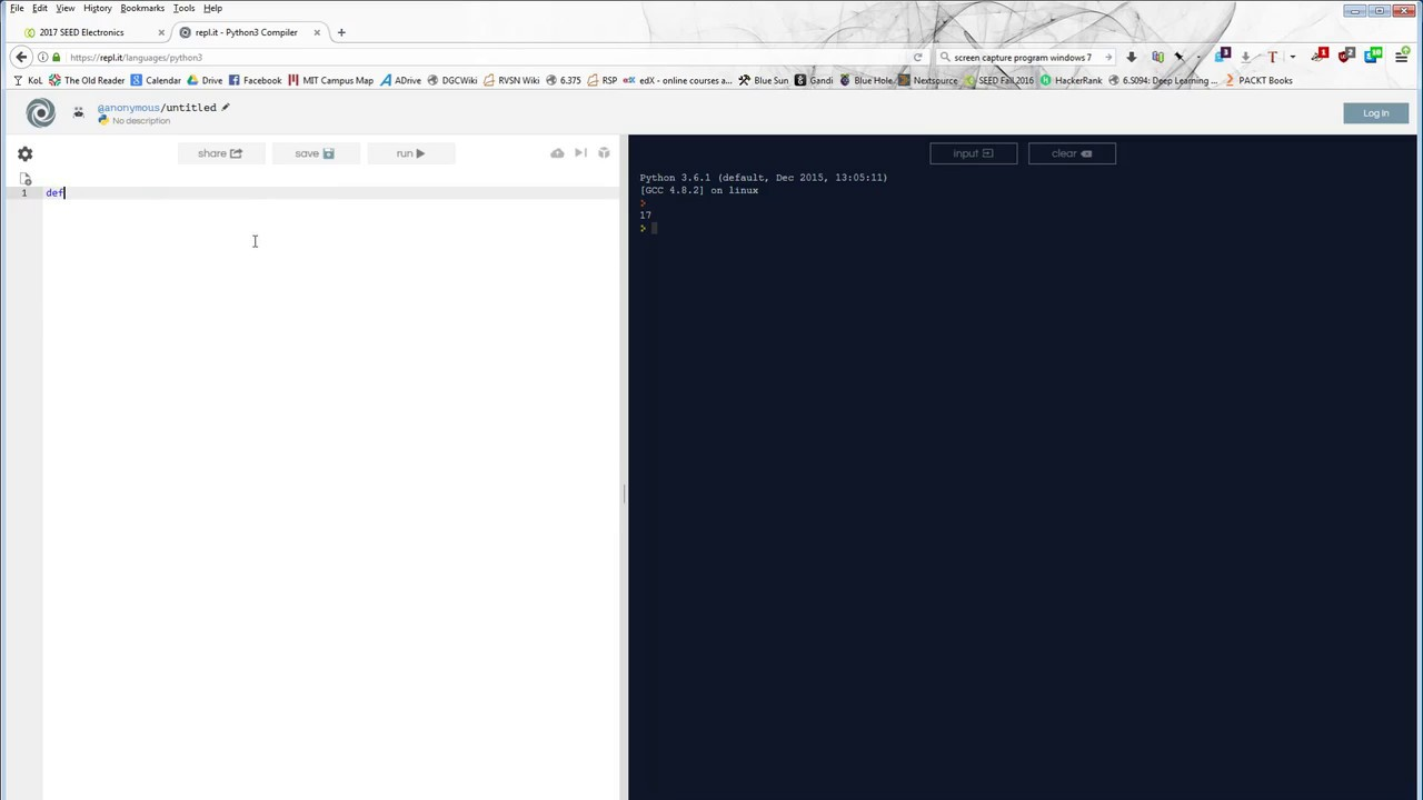 online python 3 compiler