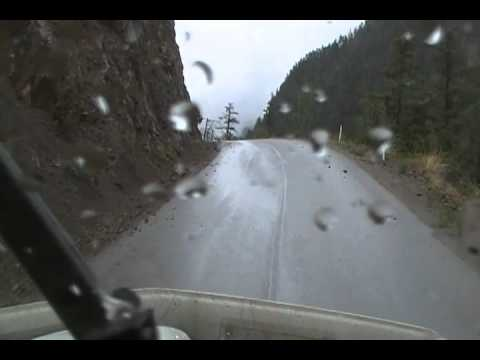 B C hwy 40 not enough room to pass traffic - YouTube