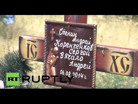Ukraine: Pushilin & Donetsk mourners honour Andrei Stenin 1 year on from death