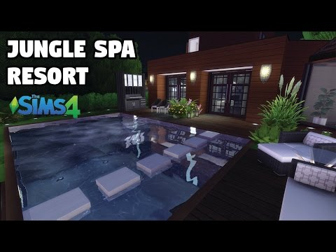 Jungle Spa Resort | Speed Build | The Sims 4 (CC)
