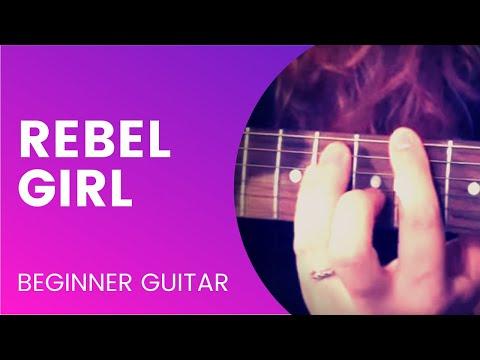 Rebel Girl Beginner Guitar Tutorial Youtube