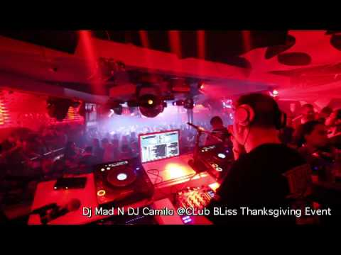 Dj Mad N Dj Camilo At CLub Bliss ThancksGiving Event.mp4