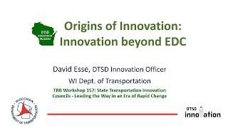 STIC Workshop TRB 2017: Origins of Innovation