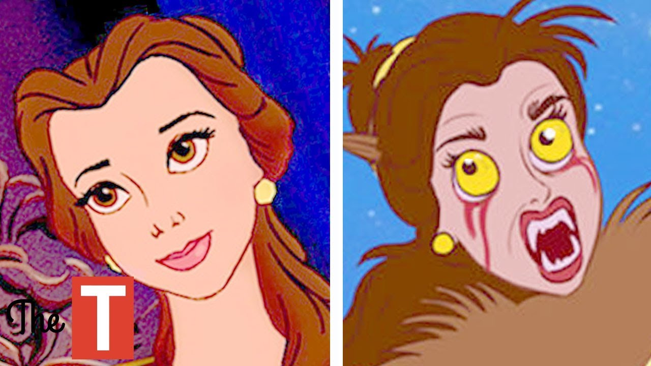 10 disney princesses reimagined as monsters youtube