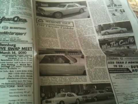 Great Reading Material: Old Autos - a Canadian Newspaper for the Enthusiast