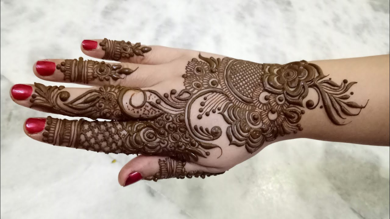 Indo Gulf Henna Design In Arabic Style 2017 Youtube