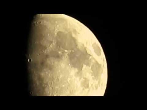 Луна, половинная фаза днем на закате. Ч.2