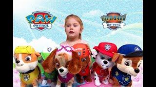 Мягкие Игрушки Щенячий Патруль🐕 🐩 🐈 Гонщик,Скай,Крепыш,Зума,Рокки и Маршал.Plush Toys Paw Patrol.