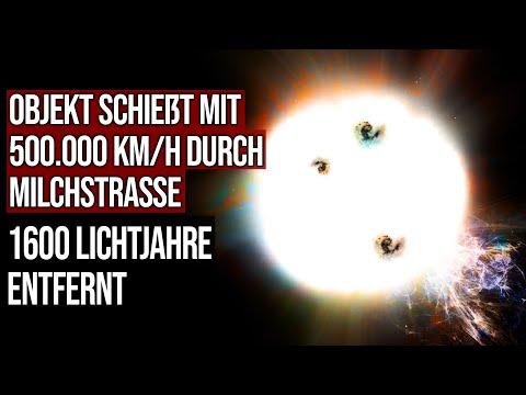 Objekt schießt mit 500.000 km/h durch Milchstrasse - 1600 Lichtjahre entfernt