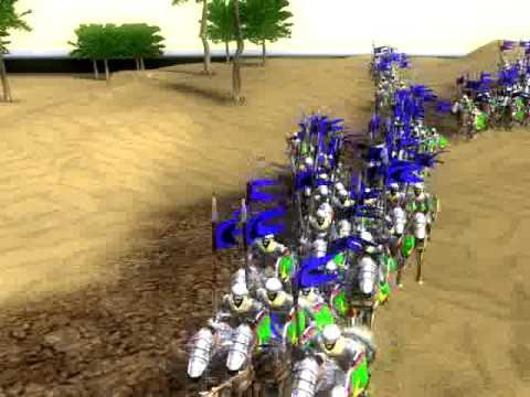 Stronghold 2 Crusader Battle of Mongisard Baldwin IV vs Saladin 2of4