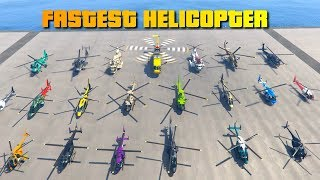 GTA V Online Which is the Fastest Helicopter/Chopper | Top Speed