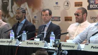 DAVID HAYE v TYSON FURY - FULL & UNCUT LONDON PRESS CONFERENCE / HAYE v FURY