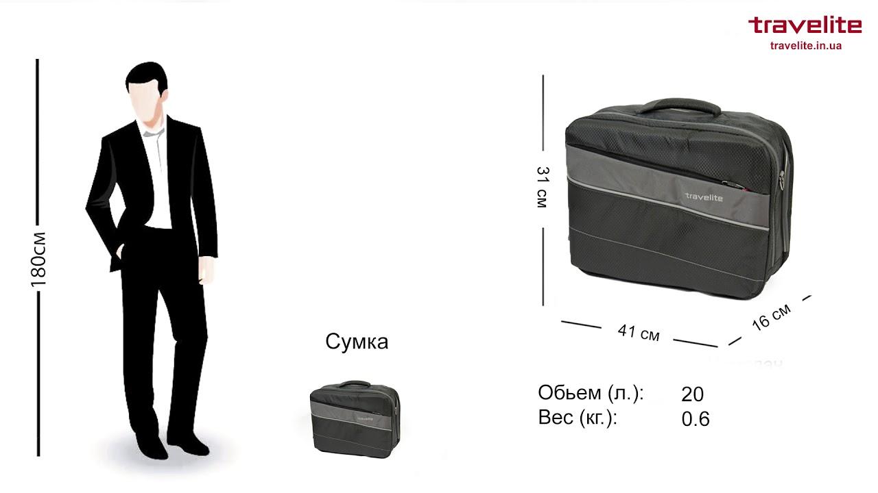 5e5312ff8368 Обзор чемоданов и дорожных сумок Travelite Kite Black - YouTube