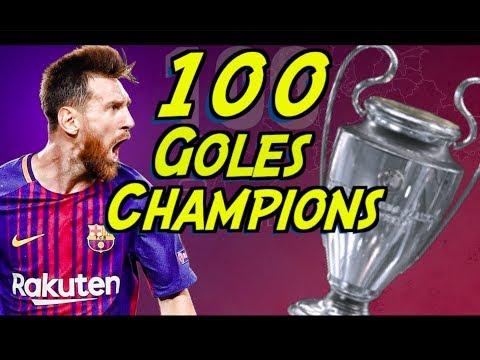 Lo que No Sabias de los 100 Goles de Messi en la Champions League