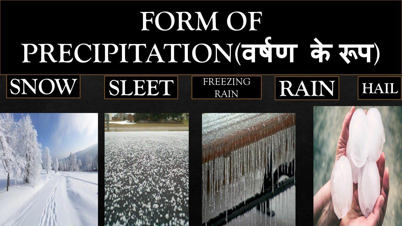 Download Geography || Form of precipitation || Snow Fall, Sleet Fall, Freezing Rain Fall, Hail Fall