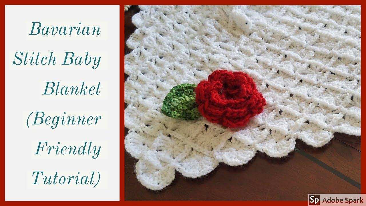Crochet How To Make Fancy Baby Blanket Tutorial Youtube