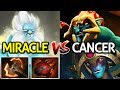 Miracle- Dota 2 [Phantom Lancer] VS Cancer Huskar + Oracle | Hard Game