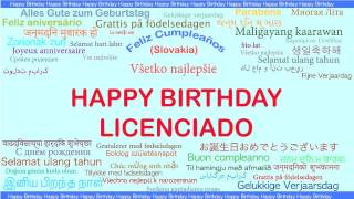 Licenciado   Languages Idiomas - Happy Birthday