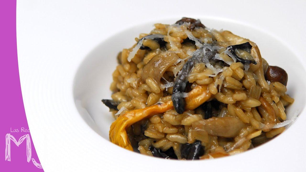 Risotto de setas receta italiana youtube for Como cocinar risotto de setas