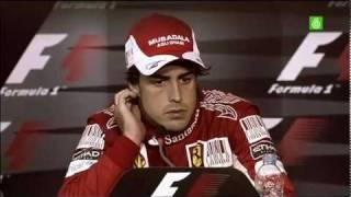 La vergonzosa rueda de prensa del GP Alemania 2010