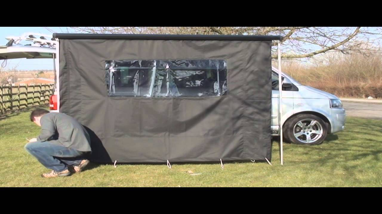 VW T5 California Awning Kit   YouTube