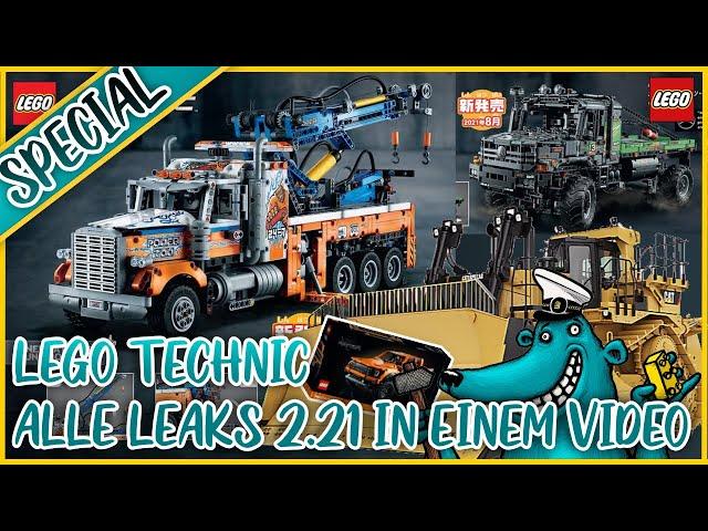 LEGO Technic 2. Halbjahr 2021: Alle geleakten Sets in einem Video!