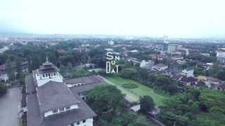 Gedung Sate, Bandung - West Java (sunday Aerial Fotography & Videography)