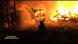 Barn burns to the ground in Northbridge, Ma
