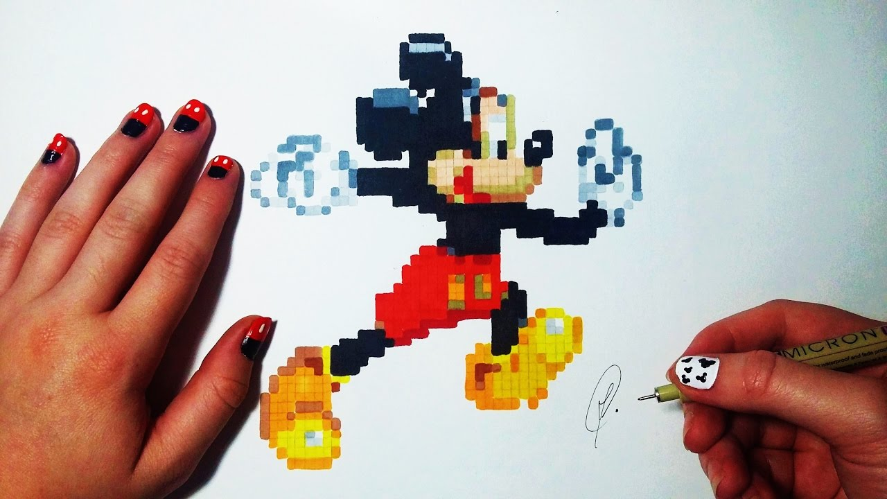 Mickey Mouse Pixel Art Dessin Fr