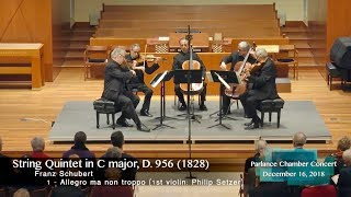 Emerson Quartet & cellist David Finckel: Schubert's String Quintet in C, D. 956, Op.Posth 163