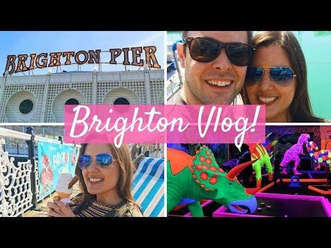VLOG | A fun day in Brighton! Globalls Mini Golf, Brighton Marina and Pier!
