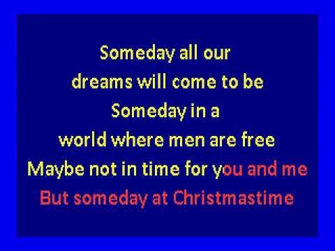 Stevie Wonder   - Someday At Christmas (karaoke)