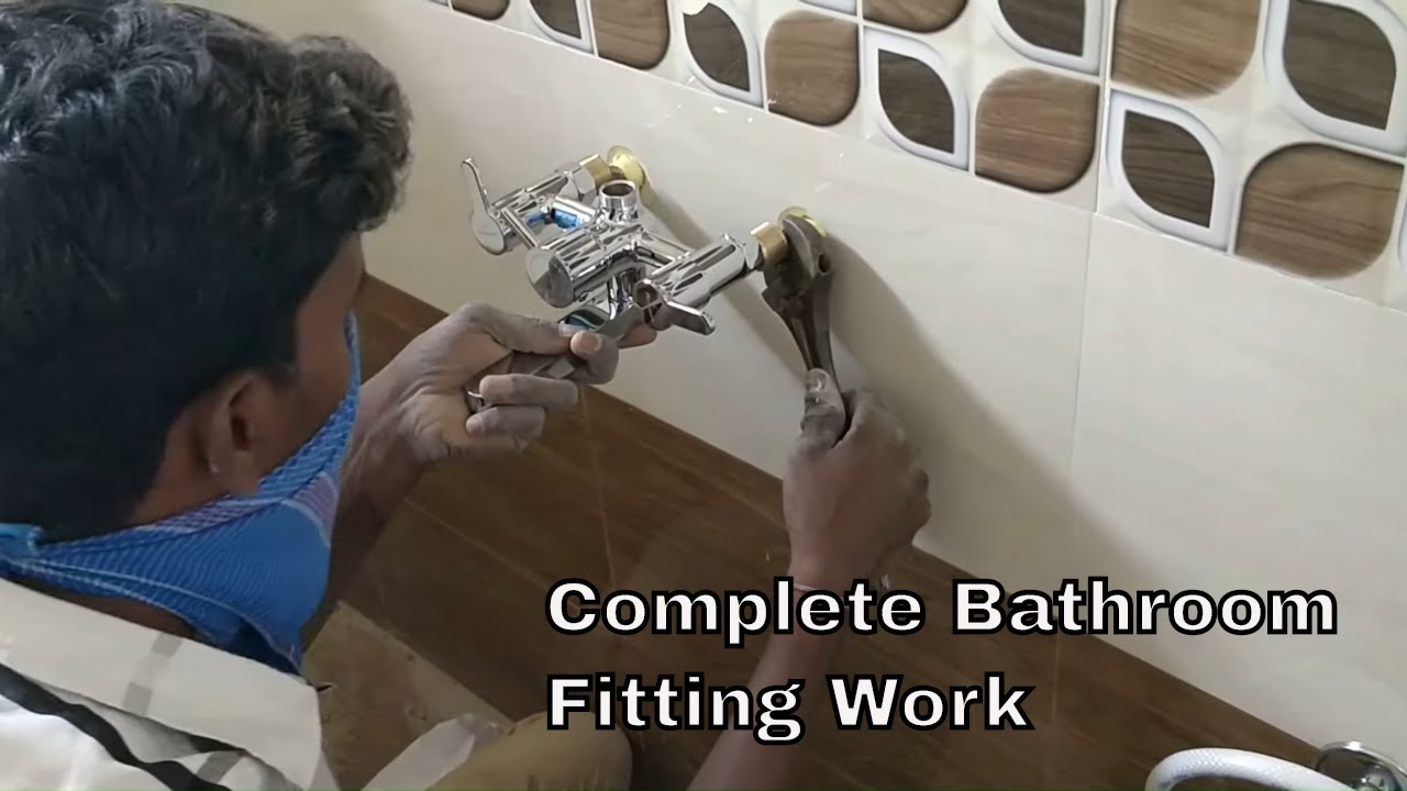 Bath room fitting work for rent house - A2Z Construction Details