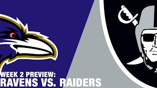 Ravens vs. Raiders Preview (Week 2) | NFL