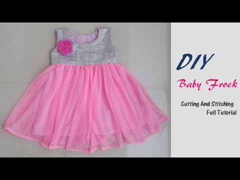 828807107a63 dIY Party Wear Fancy Baby Frock Cutting And Stitching Full tutorial ...