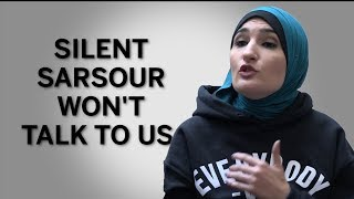 Linda Sarsour gets frustrated with the Daily Caller News Foundation