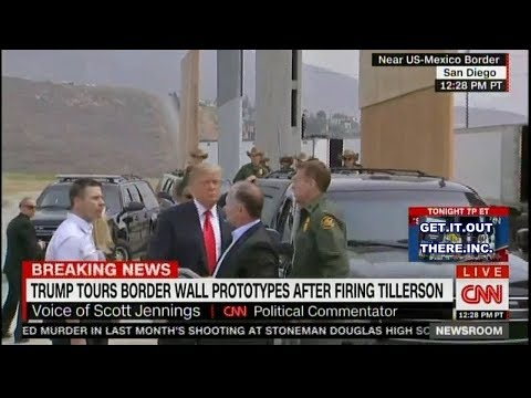 LIVE Trump Tours Border Wall Prototypes